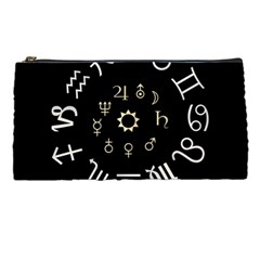Astrology Chart With Signs And Symbols From The Zodiac, Gold Colors Pencil Cases