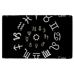 Astrology Chart With Signs And Symbols From The Zodiac, Gold Colors Ipad Mini 4 by Jojostore