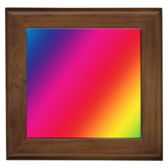 Rainbow Colors Framed Tiles by Jojostore