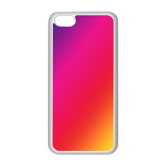 Rainbow Colors Apple Iphone 5c Seamless Case (white) by Jojostore