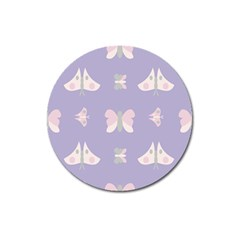 Butterfly Butterflies Merry Girls Magnet 3  (round) by Sapixe