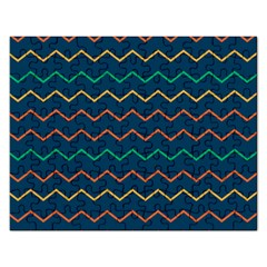 Pattern Zig Zag Colorful Zigzag Rectangular Jigsaw Puzzl by Sapixe