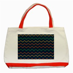 Pattern Zig Zag Colorful Zigzag Classic Tote Bag (red)
