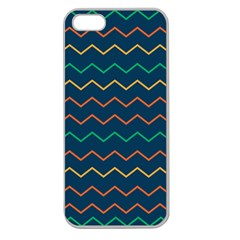 Pattern Zig Zag Colorful Zigzag Apple Seamless Iphone 5 Case (clear)