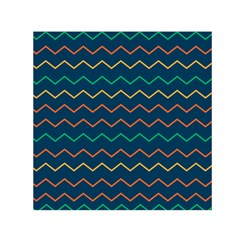 Pattern Zig Zag Colorful Zigzag Small Satin Scarf (square)