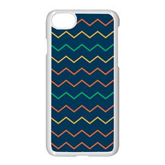 Pattern Zig Zag Colorful Zigzag Apple Iphone 7 Seamless Case (white)