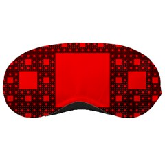 Red Sierpinski Carpet Plane Fractal Sleeping Masks