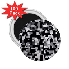 Noise Texture Graphics Generated 2 25  Magnets (100 Pack)