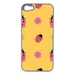 Ladybug Seamlessly Pattern Apple Iphone 5 Case (silver) by Sapixe