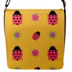 Ladybug Seamlessly Pattern Flap Closure Messenger Bag (s)