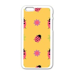 Ladybug Seamlessly Pattern Apple Iphone 6/6s White Enamel Case