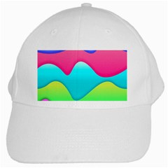 Lines Curves Colors Geometric Lines White Cap