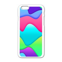 Lines Curves Colors Geometric Lines Apple Iphone 6/6s White Enamel Case by Sapixe