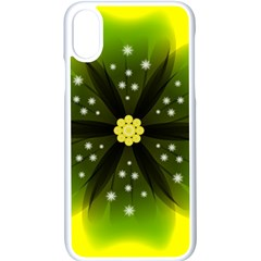 Christmas Flower Nature Plant Apple Iphone X Seamless Case (white)