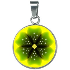 Christmas Flower Nature Plant 20mm Round Necklace by Sapixe