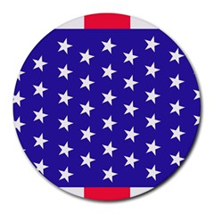Day Independence July Background Round Mousepads by Sapixe