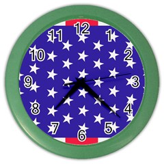 Day Independence July Background Color Wall Clock