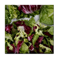 Salad Lettuce Vegetable Tile Coasters by Sapixe