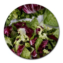 Salad Lettuce Vegetable Round Mousepads by Sapixe
