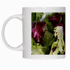 Salad Lettuce Vegetable White Mugs by Sapixe