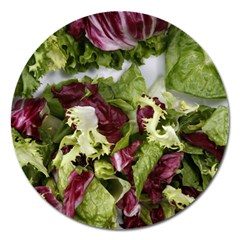 Salad Lettuce Vegetable Magnet 5  (round) by Sapixe