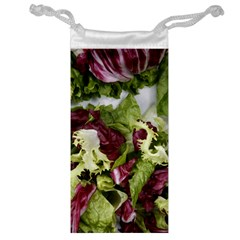 Salad Lettuce Vegetable Jewelry Bag by Sapixe