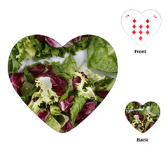 Salad Lettuce Vegetable Playing Cards (heart) by Sapixe