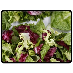 Salad Lettuce Vegetable Fleece Blanket (large)  by Sapixe