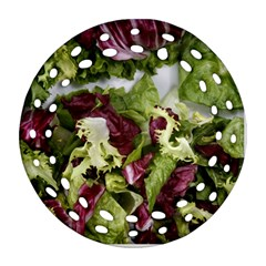 Salad Lettuce Vegetable Ornament (round Filigree) by Sapixe