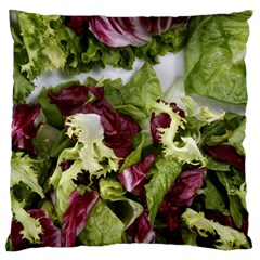 Salad Lettuce Vegetable Large Cushion Case (two Sides) by Sapixe
