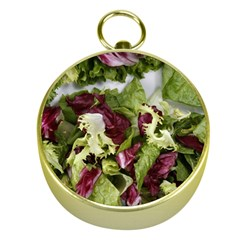 Salad Lettuce Vegetable Gold Compasses by Sapixe