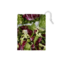 Salad Lettuce Vegetable Drawstring Pouch (small) by Sapixe