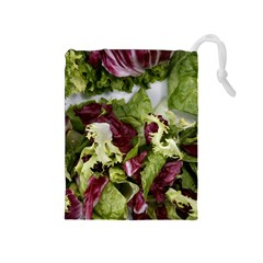 Salad Lettuce Vegetable Drawstring Pouch (medium) by Sapixe