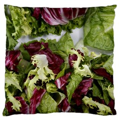 Salad Lettuce Vegetable Large Flano Cushion Case (two Sides) by Sapixe