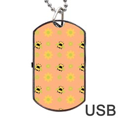 Bee A Bug Nature Wallpaper Dog Tag Usb Flash (two Sides)