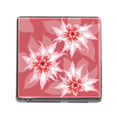 Flower Leaf Nature Flora Floral Memory Card Reader (square 5 Slot)