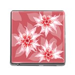 Flower Leaf Nature Flora Floral Memory Card Reader (Square 5 Slot) Front