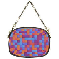 Squares Background Geometric Modern Chain Purse (two Sides) by Sapixe