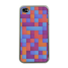 Squares Background Geometric Modern Apple Iphone 4 Case (clear)