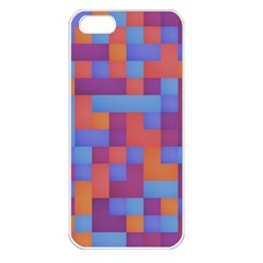 Squares Background Geometric Modern Apple Iphone 5 Seamless Case (white)