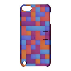 Squares Background Geometric Modern Apple Ipod Touch 5 Hardshell Case With Stand