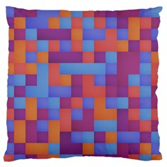 Squares Background Geometric Modern Standard Flano Cushion Case (two Sides)