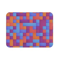 Squares Background Geometric Modern Double Sided Flano Blanket (mini)