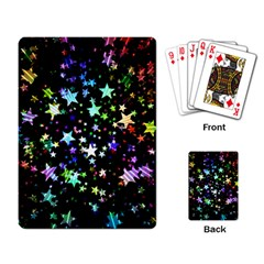 Christmas Star Gloss Lights Light Playing Cards Single Design by Sapixe