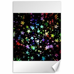 Christmas Star Gloss Lights Light Canvas 24  X 36  by Sapixe