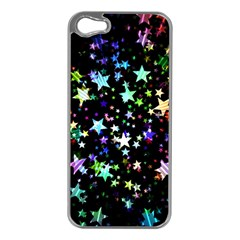 Christmas Star Gloss Lights Light Apple Iphone 5 Case (silver) by Sapixe
