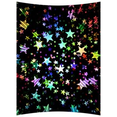 Christmas Star Gloss Lights Light Back Support Cushion by Sapixe