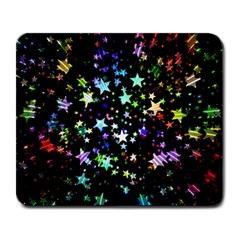 Christmas Star Gloss Lights Light Large Mousepads by Sapixe