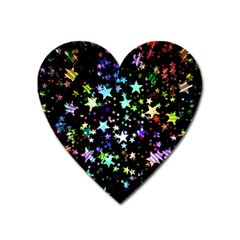 Christmas Star Gloss Lights Light Heart Magnet