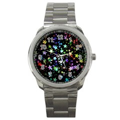 Christmas Star Gloss Lights Light Sport Metal Watch
